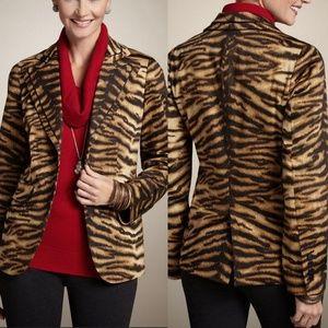 Chico''s Fierce Stripe Fantasia Jacket Blazer 10